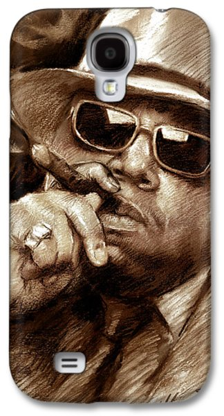 Hop Drawings Galaxy S4 Cases - The Notorious B.I.G. Galaxy S4 Case by Viola El