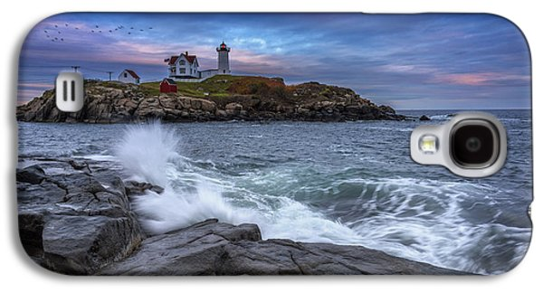Cape Neddick Galaxy S4 Cases - The Nubble In Color Galaxy S4 Case by Rick Berk
