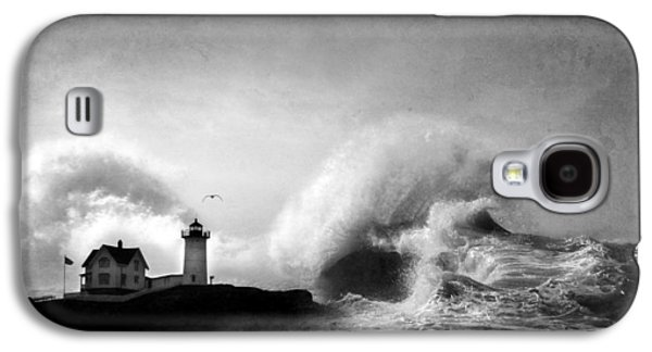 Nubble Lighthouse Galaxy S4 Cases - The Nubble in Trouble Galaxy S4 Case by Lori Deiter