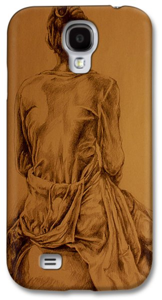 Contemplative Drawings Galaxy S4 Cases - The Observer Galaxy S4 Case by Derrick Higgins