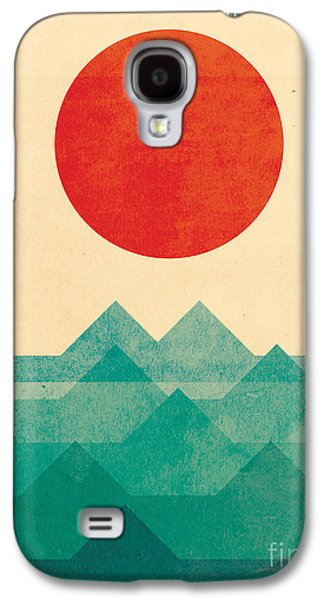 Simple Galaxy S4 Cases - The Ocean the sea the wave Galaxy S4 Case by Budi Satria Kwan