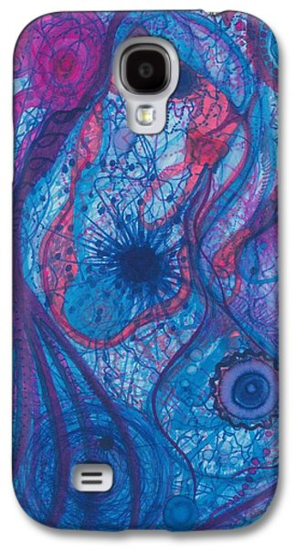 Daina White Galaxy S4 Cases - The Oceans Blue Heart Galaxy S4 Case by Daina White