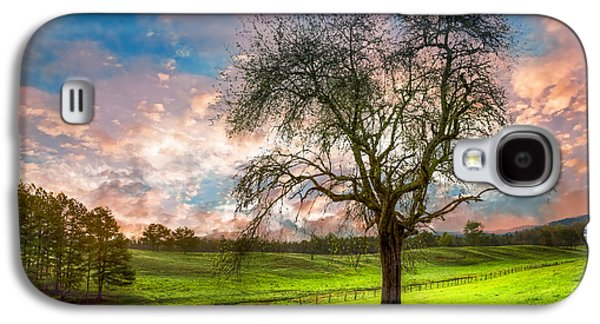 Tn Barn Galaxy S4 Cases - The Old Apple Tree at Dawn Galaxy S4 Case by Debra and Dave Vanderlaan