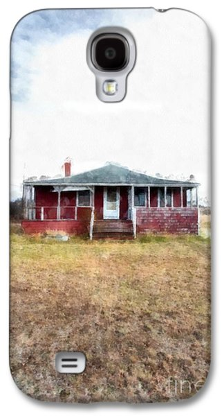 Hamptons Galaxy S4 Cases - The old beach cottage Galaxy S4 Case by Edward Fielding