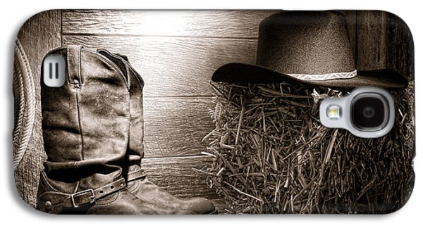 Western Photographs Galaxy S4 Cases - The Old Boots Galaxy S4 Case by Olivier Le Queinec