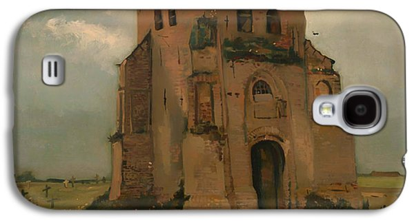 Headstones Paintings Galaxy S4 Cases - The Old Church Tower at Neunen Galaxy S4 Case by Vincent van Gogh