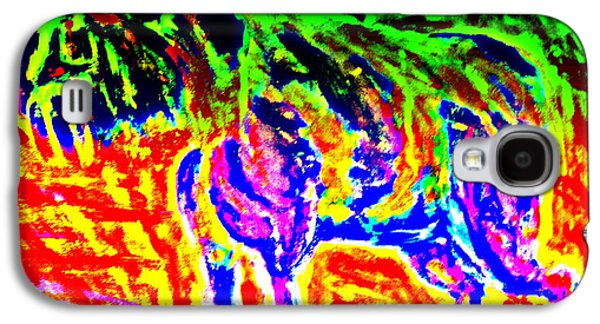 Component Paintings Galaxy S4 Cases - The Old Dog Galaxy S4 Case by Hilde Widerberg