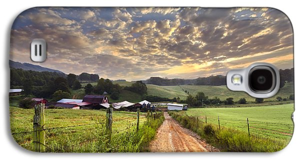 Pasture Scenes Galaxy S4 Cases - The Old Farm Lane Galaxy S4 Case by Debra and Dave Vanderlaan