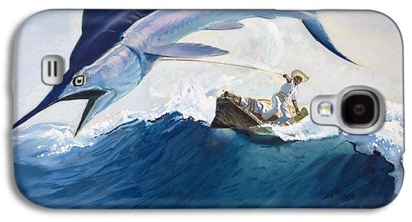 Ocean Paintings Galaxy S4 Cases - The Old Man and the Sea Galaxy S4 Case by Harry G Seabright