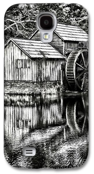 Pioneer Scene Galaxy S4 Cases - The Old Mill Black and White Galaxy S4 Case by Darren Fisher