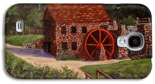 Grist Mill Paintings Galaxy S4 Cases - The old mill Galaxy S4 Case by Megan Walsh