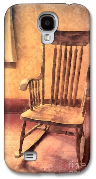 Rocking Chairs Galaxy S4 Cases - The Old Rocker Galaxy S4 Case by Edward Fielding