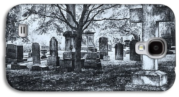 Headstones Paintings Galaxy S4 Cases - The Old Weathered Cross - Greensboro North Carolina II Galaxy S4 Case by Dan Carmichael
