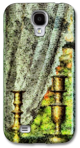 Garden Scene Mixed Media Galaxy S4 Cases - The old window Galaxy S4 Case by Toppart Sweden