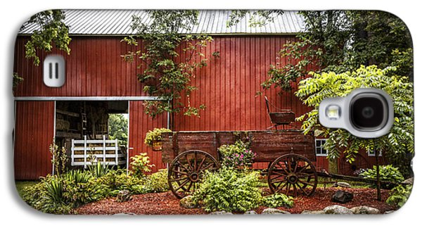 The Old Wood Cart Galaxy S4 Case by Debra and Dave Vanderlaan
