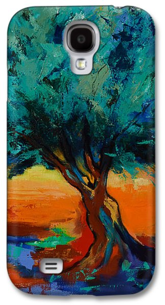 Landscape Posters Galaxy S4 Cases - The Olive Trees Dance Galaxy S4 Case by Elise Palmigiani
