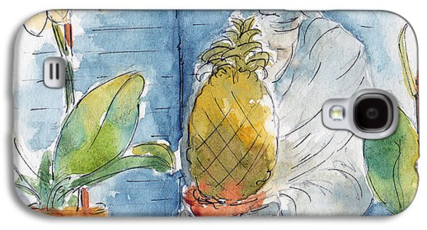 Garden Scene Galaxy S4 Cases - The Orchids And The Pineapple Galaxy S4 Case by Pat Katz
