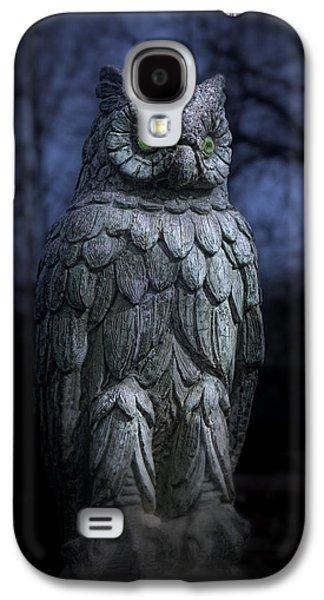 Creepy Galaxy S4 Cases - The Owl Galaxy S4 Case by Tom Mc Nemar