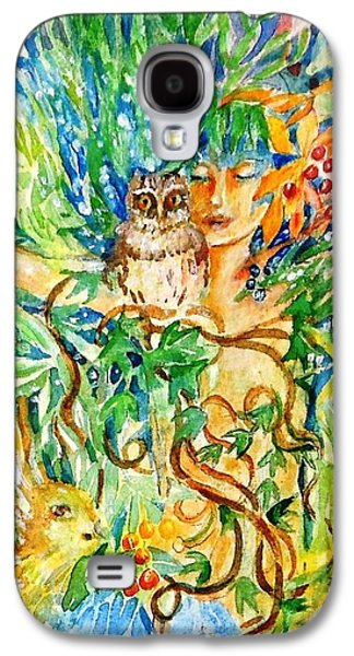 Quaker Paintings Galaxy S4 Cases - The Owl Whisperer Galaxy S4 Case by Trudi Doyle