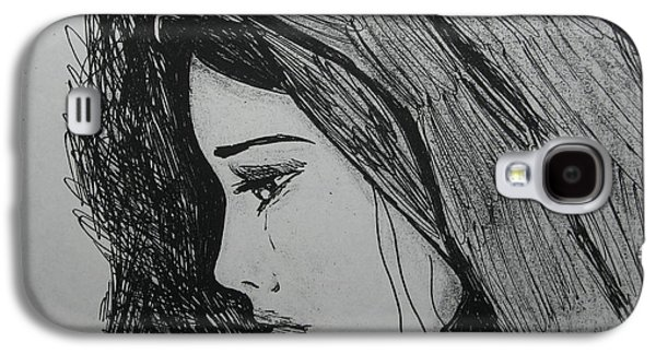 Weeping Drawings Galaxy S4 Cases - The Pain Of Parting Galaxy S4 Case by Donatella Muggianu