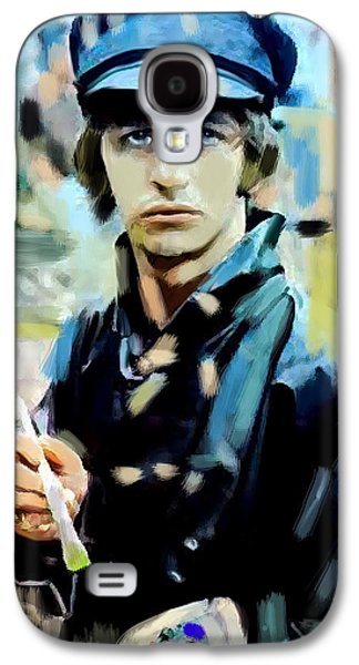 Beatles Drawings Galaxy S4 Cases - The Painted Heart  Ringo Starr Galaxy S4 Case by Iconic Images Art Gallery David Pucciarelli
