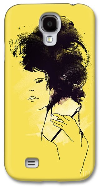 Ink Digital Galaxy S4 Cases - The painter Galaxy S4 Case by Budi Kwan