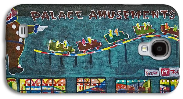 Asbury Park Paintings Galaxy S4 Cases - The Palace Clown at Night Galaxy S4 Case by Patricia Arroyo