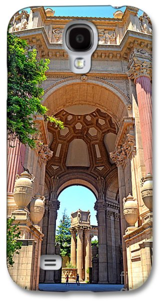 California Tourist Spots Galaxy S4 Cases - The Palace of Fine Arts in the Marina District of San Francisco II Galaxy S4 Case by Jim Fitzpatrick