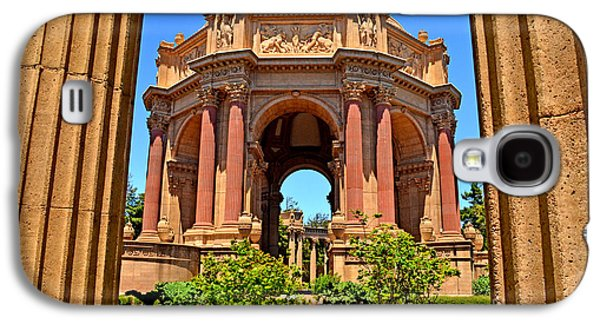 California Tourist Spots Galaxy S4 Cases - The Palace of Fine Arts in the Marina District of San Francisco Galaxy S4 Case by Jim Fitzpatrick