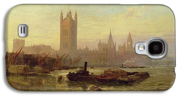 Setting Sun Galaxy S4 Cases - The Palace Of Westminster, 1892 Oil On Canvas Galaxy S4 Case by George Vicat Cole