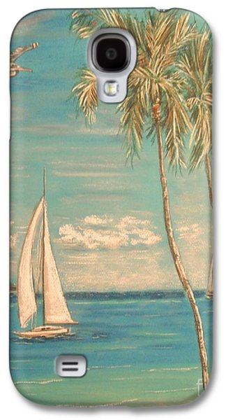 Beach Landscape Pastels Galaxy S4 Cases - The Palms Galaxy S4 Case by The Beach  Dreamer