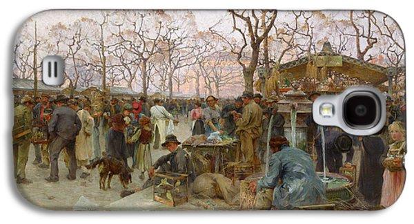 The Parisian Bird Market Galaxy S4 Case by Henri-Gaston Darien