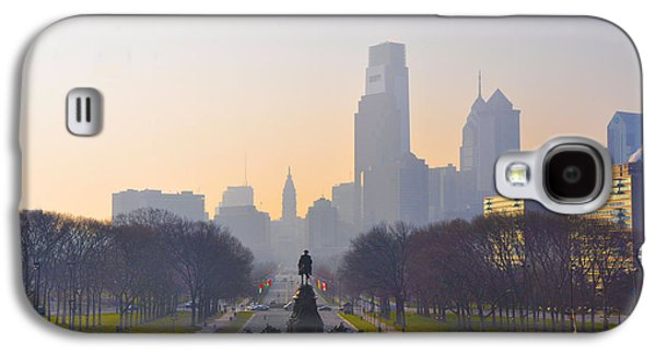 Phillies Art Galaxy S4 Cases - The Parkway in the Morning Galaxy S4 Case by Bill Cannon