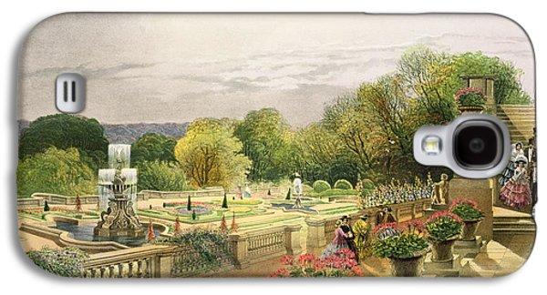 Garden Art Galaxy S4 Cases - The Parterre Harewood House near Leeds Galaxy S4 Case by E Adveno Brooke