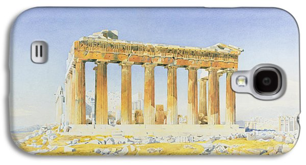 Temple Paintings Galaxy S4 Cases - The Parthenon Galaxy S4 Case by Thomas Hartley Cromek