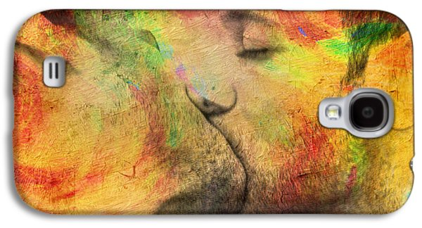 Figures Galaxy S4 Cases - The Passion Of A Kiss 1 Galaxy S4 Case by Mark Ashkenazi