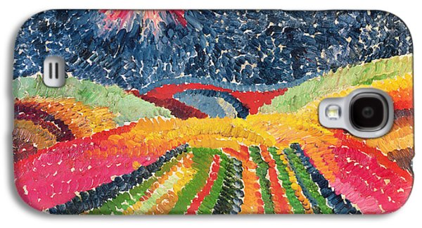 Abstract Landscape Galaxy S4 Cases - The Path, 1912 Oil On Cardboard Galaxy S4 Case by Wilhelm Morgner