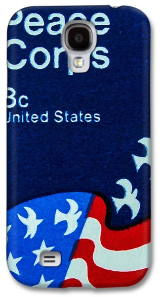 Democracy Paintings Galaxy S4 Cases - The Peace Corps stamp Galaxy S4 Case by Lanjee Chee