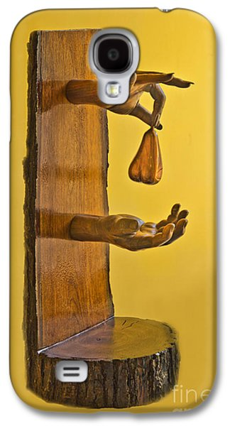 Wooden Sculpture Galaxy S4 Cases - The Pear Galaxy S4 Case by Al Bourassa
