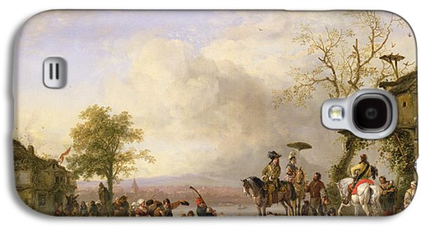 Celebration Photographs Galaxy S4 Cases - The Peasant Wedding Oil On Canvas Galaxy S4 Case by Fritz van der Venne
