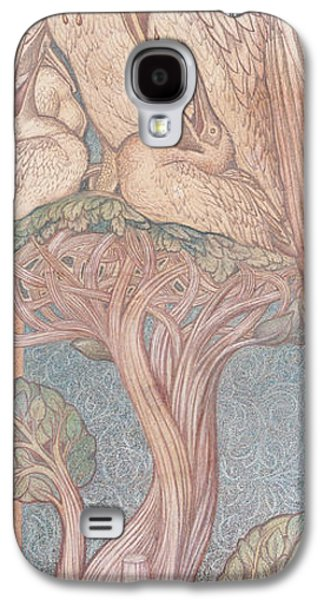Young Birds Galaxy S4 Cases - The Pelican, Cartoon For Stained Glass For The William Morris Company, 1880 Coloured Chalk On Paper Galaxy S4 Case by Sir Edward Coley Burne-Jones