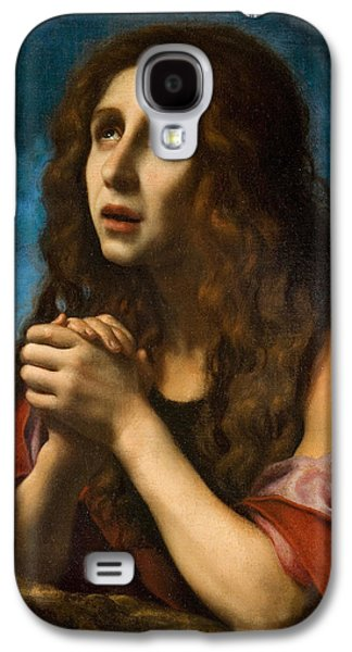 Praying Hands Galaxy S4 Cases - The Penitent Magdalen Galaxy S4 Case by Carlo Dolci