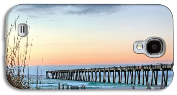 Florida Panhandle Galaxy S4 Cases - The Pensacola Beach Pier Galaxy S4 Case by JC Findley
