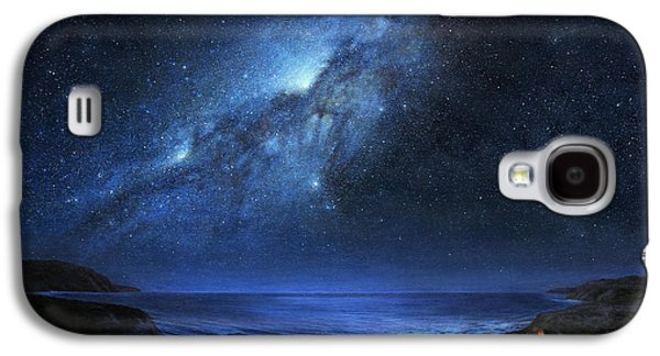 Milky Way Paintings Galaxy S4 Cases - The People of Pinnacle Point Galaxy S4 Case by Lucy West
