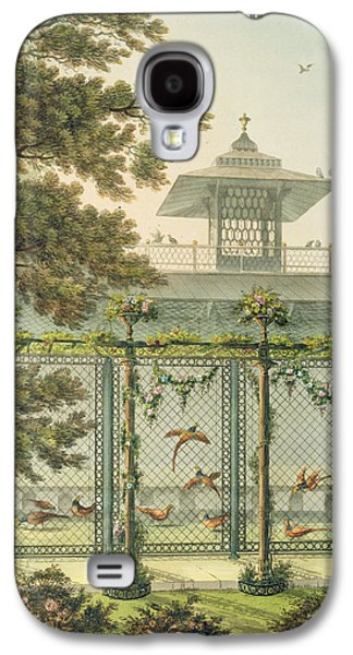Cage Paintings Galaxy S4 Cases - The Pheasantry Galaxy S4 Case by Humphry Repton