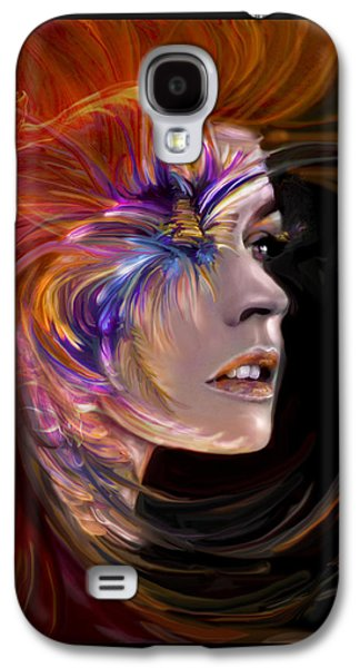 Abstract Digital Mixed Media Galaxy S4 Cases - THE PHOENIX  fire flames and rebirth Galaxy S4 Case by Jaimy Mokos