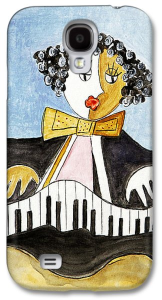 Piano Pastels Galaxy S4 Cases - The Pianist Galaxy S4 Case by Selke Boris