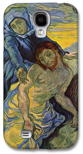 Delacroix Galaxy S4 Cases - The Pieta after Delacroix 1889 Galaxy S4 Case by Vincent Van Gogh