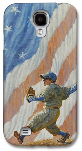 Pastimes Galaxy S4 Cases - The Pitcher Galaxy S4 Case by Gregory Perillo
