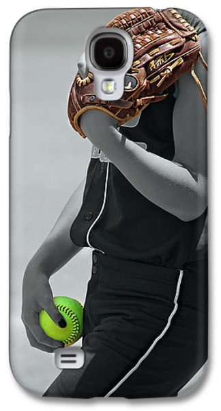 Softball Photographs Galaxy S4 Cases - The Pitcher Galaxy S4 Case by Mountain Dreams